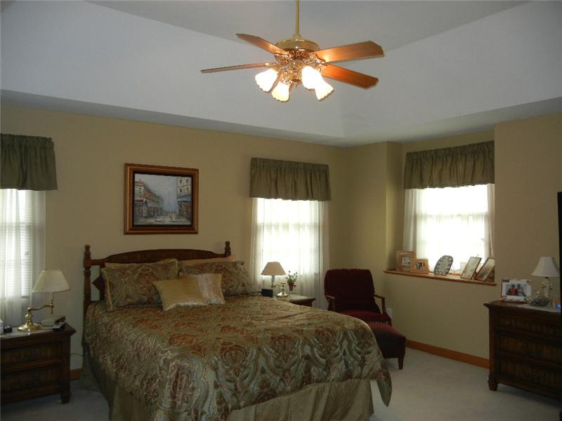 Lovely master suite with large walk in closet...