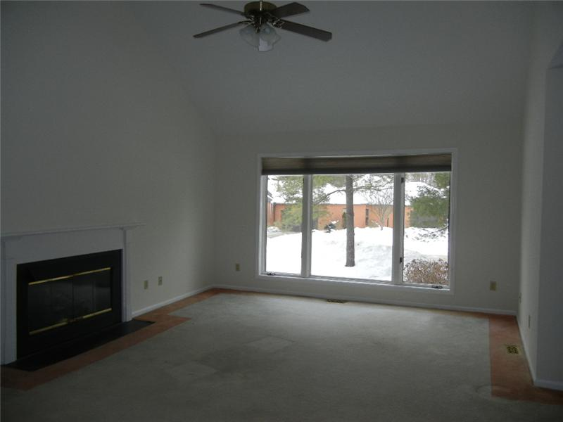 Vaulted great room with fireplace is a great place to relax or entertain family and friends!