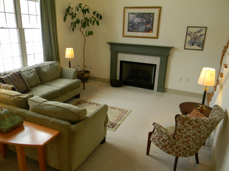 Gas fireplace in the family room